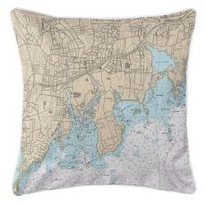 Stamford, Connecticut Nautical Chart Pillow