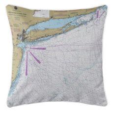 Long Island, New York Nautical Chart Pillow