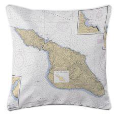 Santa Catalina Island, California Nautical Chart Pillow