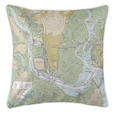 Brunswick, GA Nautical Chart Pillow