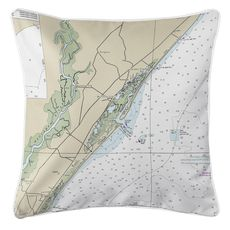 Murrells Inlet, SC Nautical Chart Pillow