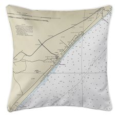 Myrtle Beach, SC Nautical Chart Pillow