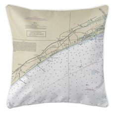 North Myrtle Beach, SC Nautical Chart Pillow