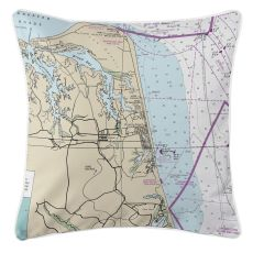 Virginia Beach, Virginia Nautical Chart Pillow