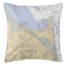 Lewes, Delaware Nautical Chart Pillow