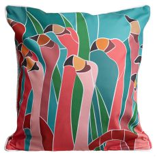 Flamingo Walk Pillow