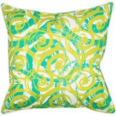 Swirls Lime Pillow