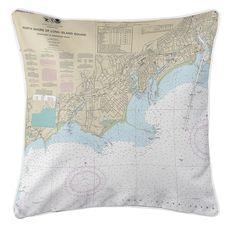 Fairfield, CT Nautical Chart Pillow