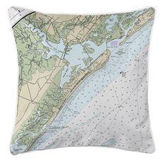 Ocean City, NJ Nautical Chart Pillow