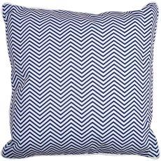 Big Pine - Compass Rose Navy & Chevron Pillow