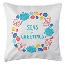 Beachcomber Christmas Coastal Pillow