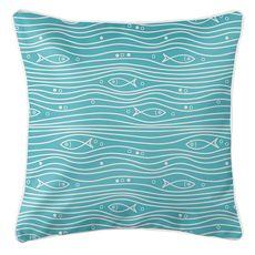 Swimming Fish Coastal Pillow