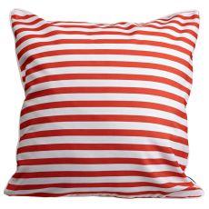 Captains Key - Ships Wheel & Stripes Pillow