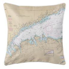 Long Island Sound (WESTERN), NY Nautical Chart Pillow