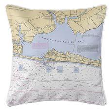 Destin, FL Nautical Chart Pillow