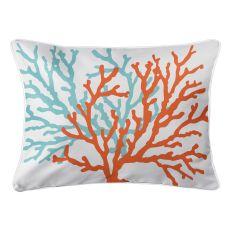Coral Duo Lumbar Pillow