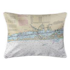Englewood, Manasota Key, FL Nautical Chart Lumbar Coastal Pillow