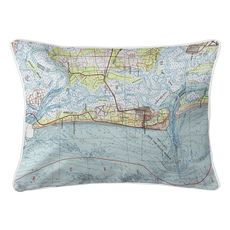 Amelia Island, FL (1981) Topo Map Lumbar Coastal Pillow
