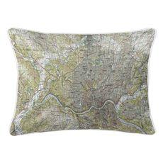 Cincinnati, OH (1986) Topo Map Lumbar Coastal Pillow