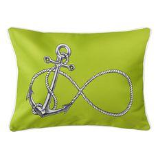 Infinity Anchor Lime Lumbar Coastal Pillow