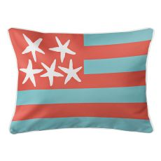 Beach Flag Lumbar Pillow - Seaside