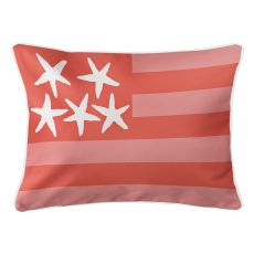 Beach Flag Lumbar Pillow - Spoonbill