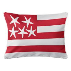 Beach Flag Lumbar Pillow - Admiral