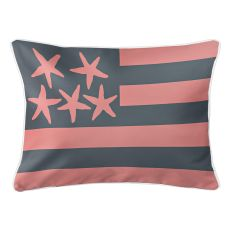 Beach Flag Lumbar Pillow - Del Mar