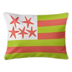 Beach Flag Lumbar Pillow - Key Lime