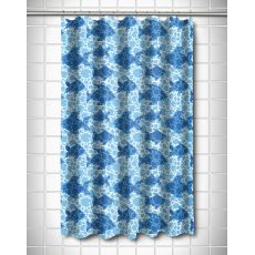 Blue Fish Bubbles Shower Curtain