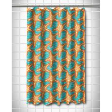 Starfish in Waves Shower Curtain