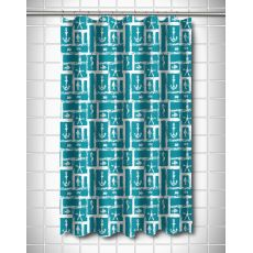 Ocean Squares Shower Curtain