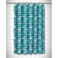 Ocean Squares Shower Curtain