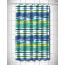 Coastal Lines Shower Curtain