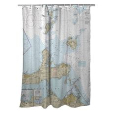 Lake Erie South Passage, Sandusky Bay, OH Nautical Chart Shower Curtain