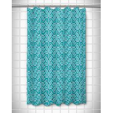 Nassau - Spa Day Turquoise Shower Curtain