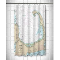 MA: Cape Cod, MA Nautical Chart Shower Curtain