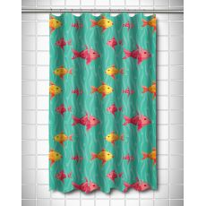 Red & Yellow Fish Shower Curtain