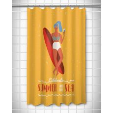 Surfer Girl - Val Shower Curtain
