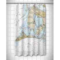 FL: Anna Maria Island, FL Nautical Chart Shower Curtain