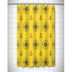 Duck Key - Compass Rose Shower Curtain