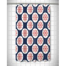 Captains Key - Ships Wheel  Shower Curtain