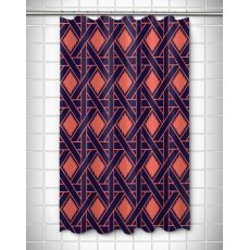 Key Largo - Passport Coral & Navy Shower Curtain