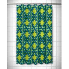 Key Largo - Passport Turquoise & Lime Shower Curtain