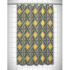 Key Largo - Passport Gray & Yellow Shower Curtain