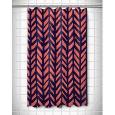Grand Bahama - Drifter Coral & Navy Shower Curtain