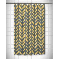Grand Bahama - Drifter Gray & Yellow Shower Curtain