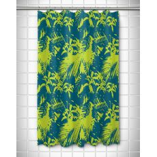 Walker's Cay - Island Getaway Turquoise & Lime Shower Curtain