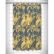 Walker's Cay - Island Getaway Gray & Yellow Shower Curtain