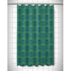 Art Deco Turquoise & Lime Shower Curtain